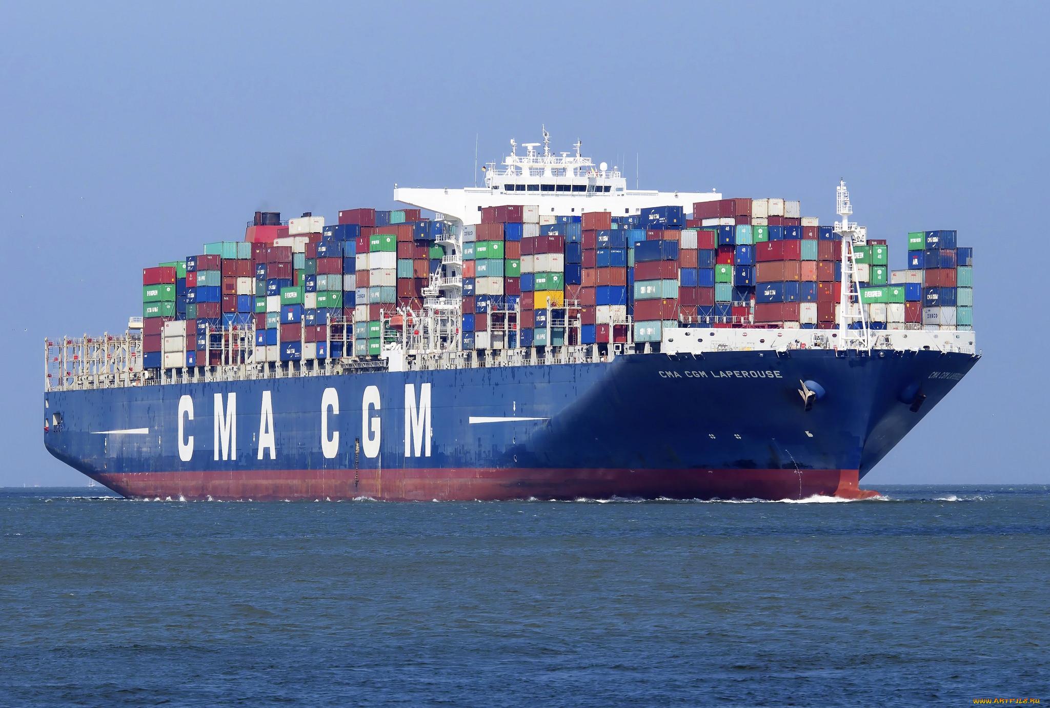 ветрами, фото обои рабочего стола контейнеровоз судно простой